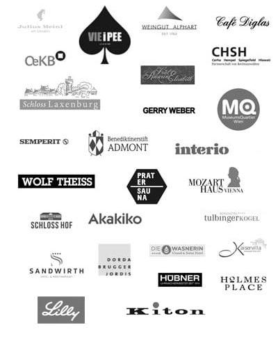 Zufriedene Kunden Schubert Stone Logosammlung