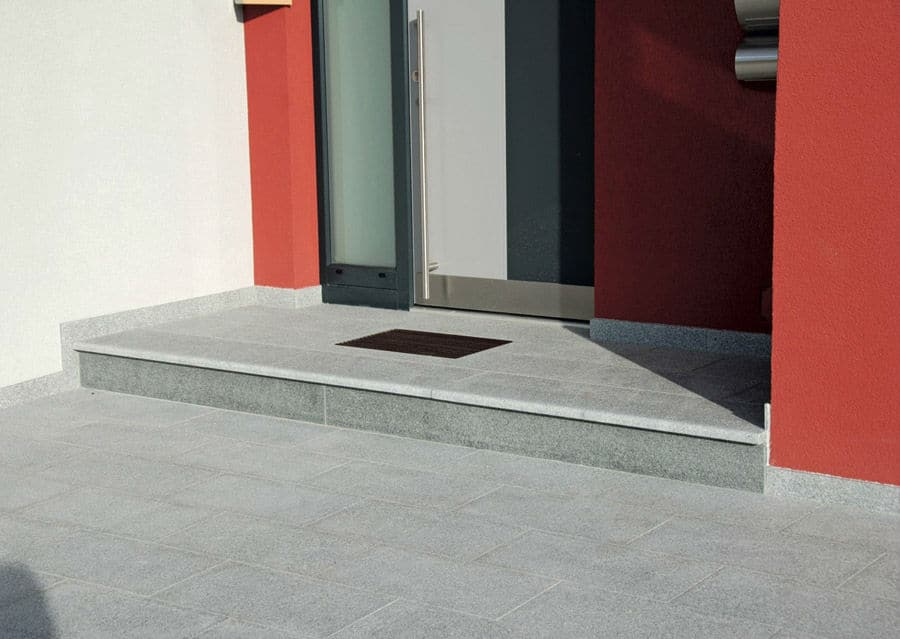 Granit Platten Eingang