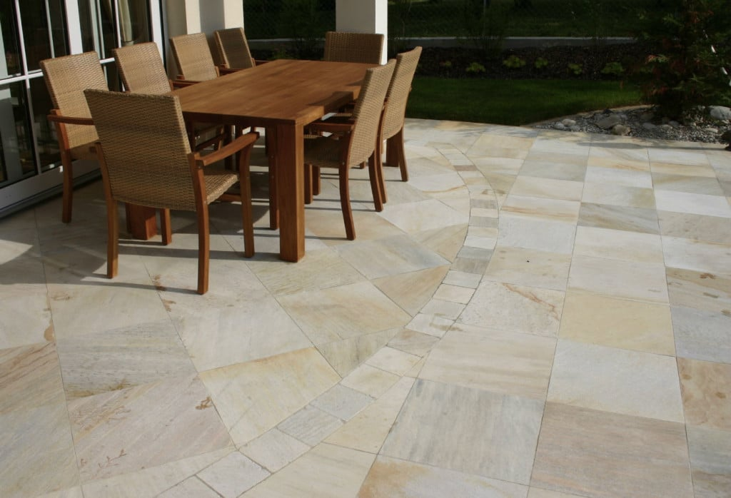 quarzsandstein terrassenplatten für außen