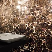 Edelsteinplatte Amethyst hinterleuchtet