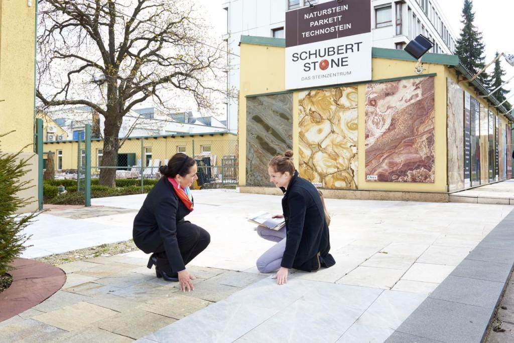 Terrassenausstellung bei SCHUBERT STONE