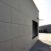 Naturstein Fassade Kalkstein diverse Mauer
