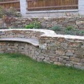 Bruchsteine Mauer