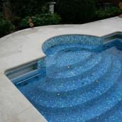 Glasmosaik Pool aussen