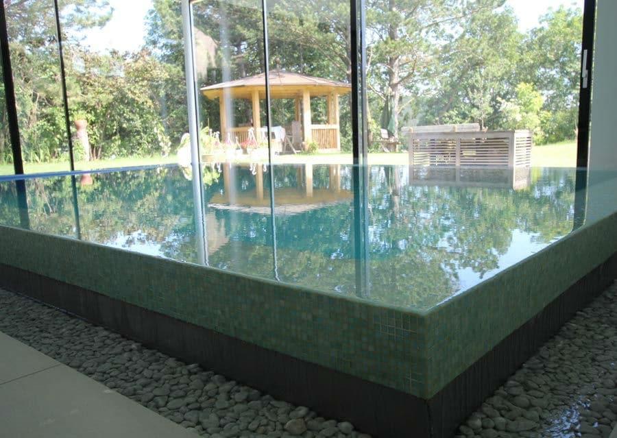 Beckenrand Glasmosaik Steine