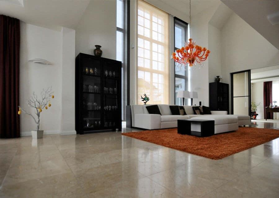 Kalkstein Levante Crema Wohnzimmer