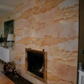 Kamine Grossplatten gelb