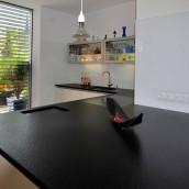 Küchenplatten Granit schwarz-grau