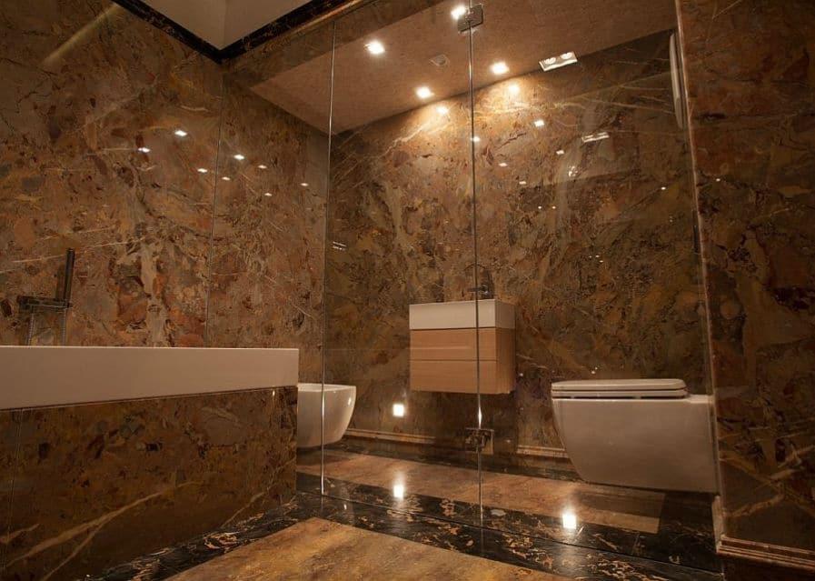 Perfekt Marmor WC; Marmor Dusche; Marmor Badezimmer ...