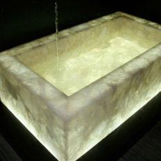 Luxusbäder Bergkristall Waschbecken