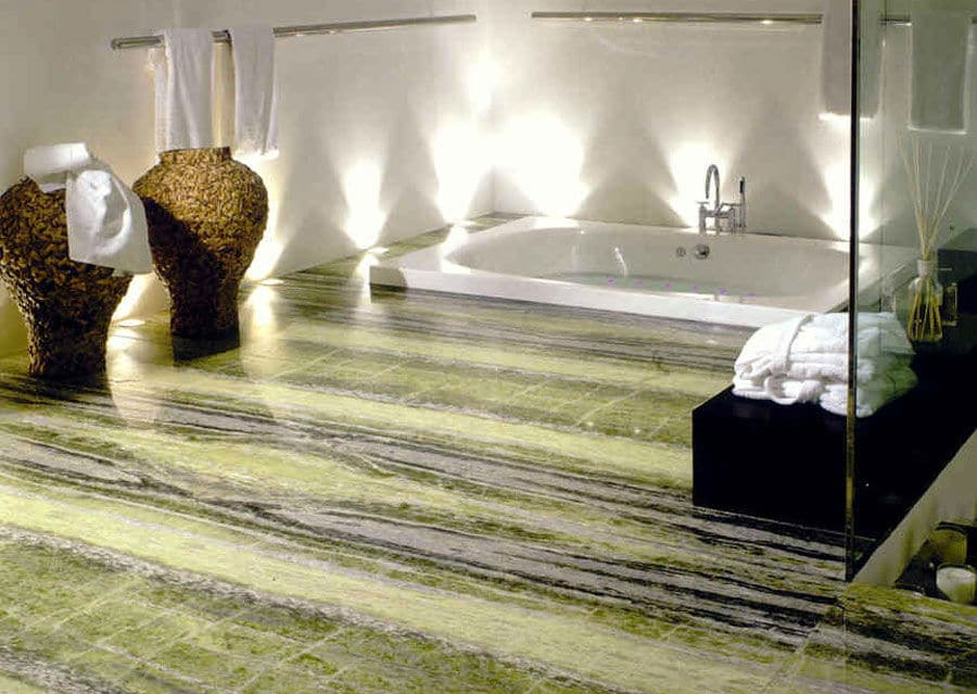 Luxusbad Steinplatten für Boden extravagant