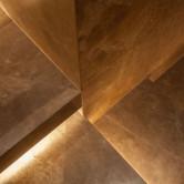 Stiegenwand Kalkstein geschliffen