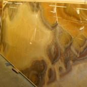 Steinbilder Grossplatte Onyx gelb