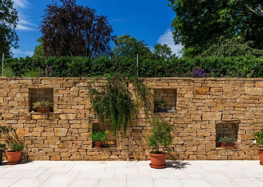 Steinmauer Gneis