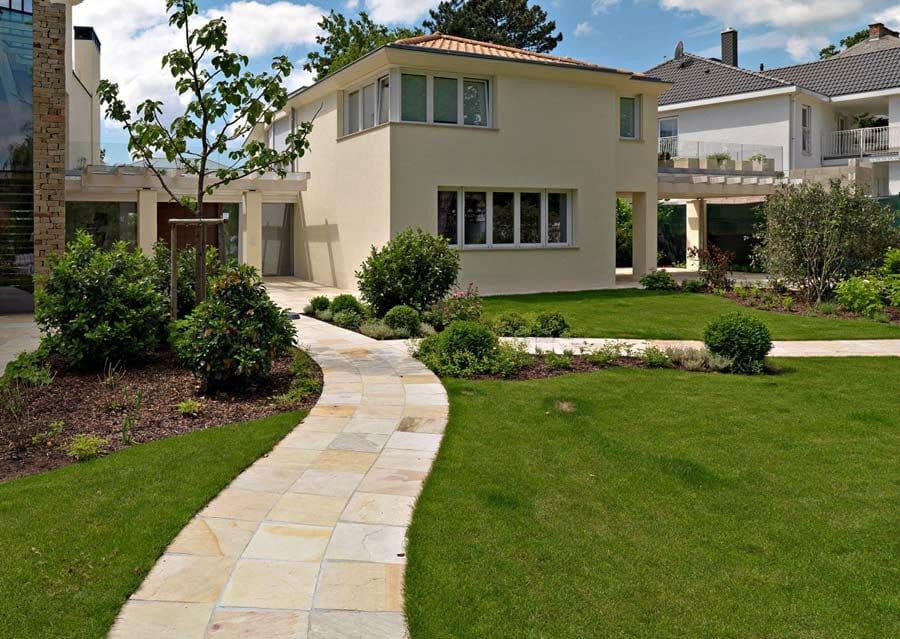 architektenvilla in wien - schubert stone | naturstein, Garten und erstellen