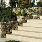Steintreppen Kalkstein Levante Crema Garten
