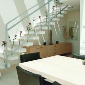 Steintreppen innen hell Stufenplatten