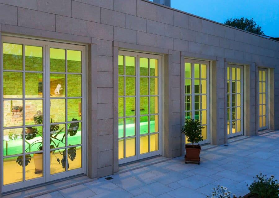 Natursteinfassade Villa