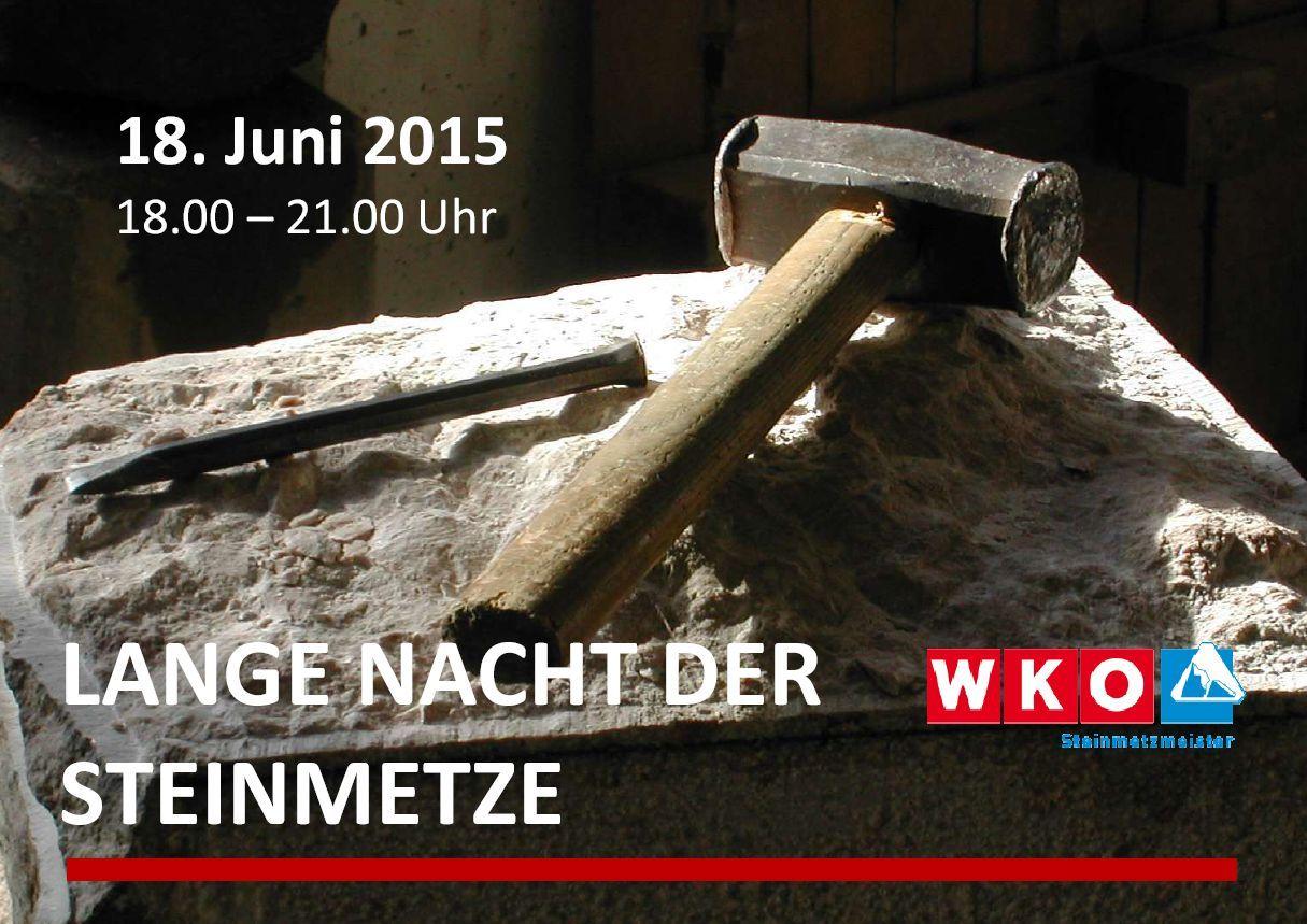 Lange Nacht der Steinmetze 2015 bei SCHUBERT STONE