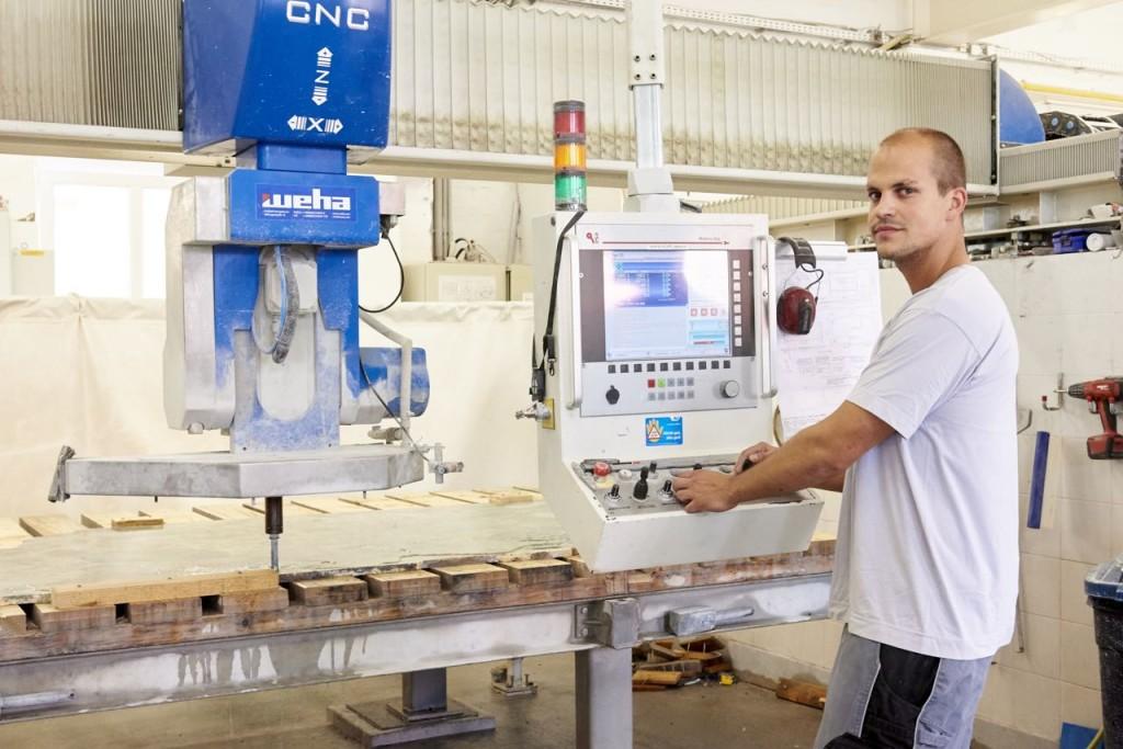 Rene Vögler Werkstattleiter bei Schubertstone