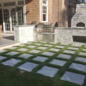 Kristallmarmor Terrassenplatten gespalten und trommelt