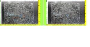 Bild 1 Küche Ganit blau schillernd 02 Rohplatte
