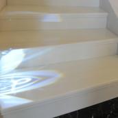 Treppe verlegt mit Naturstein