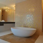 Luxusbad Mosaik Badewanne Naturstein