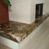 Luxus Kamin aus Naturstein