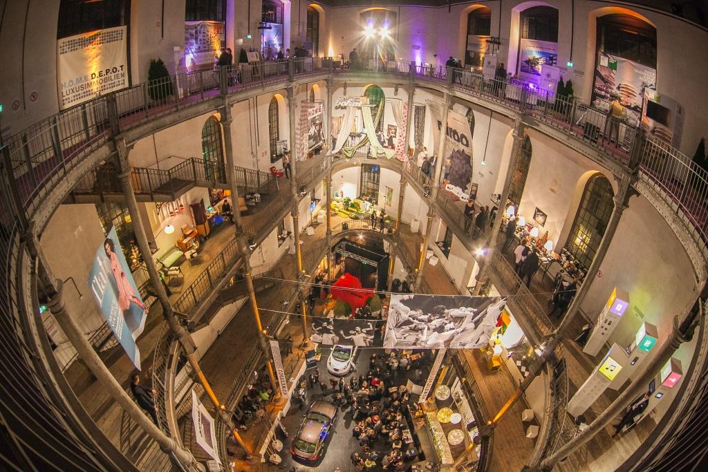 Die Ausstellungsräume von oben