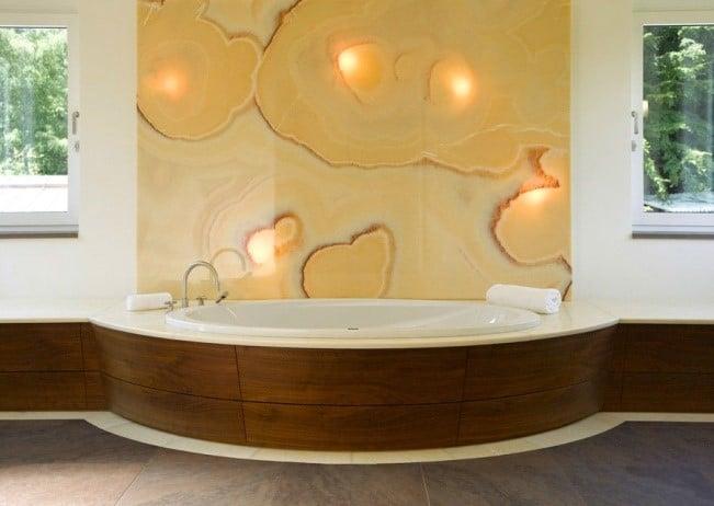 Luxus Badewanne Naturstein