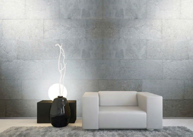 Steinplatten Wand