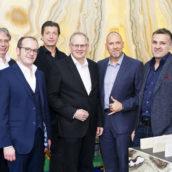 Michael Fürst (Dornbracht Österreich) Karl Hessl, Michael Dania, Thomas Schubert, Marcus Schulz (Vitra Österreich) Martin Steininger