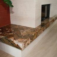 Kalkstein- und Granit Kamin-2