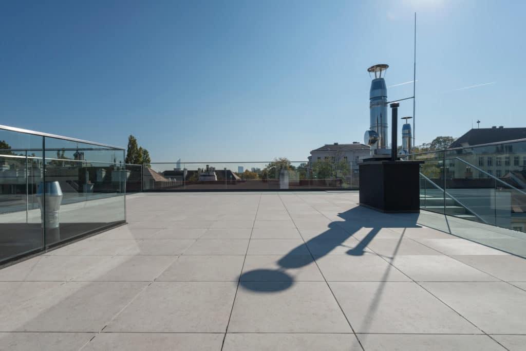 Dachterrasse mit 2cm Technostein – 01