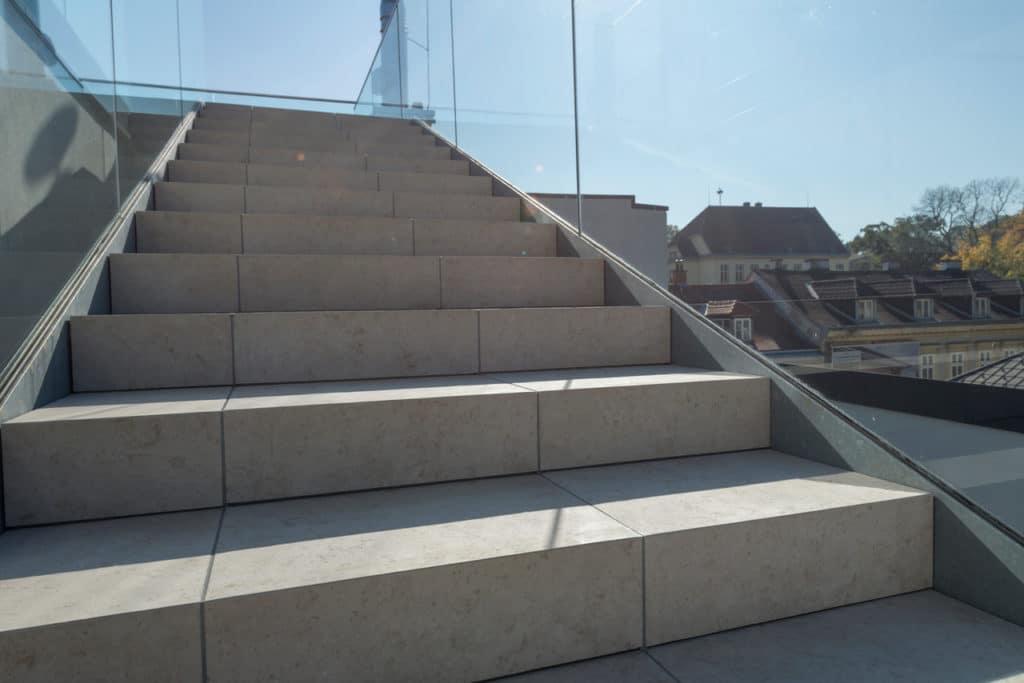Dachterrasse mit 2cm Technostein – 11