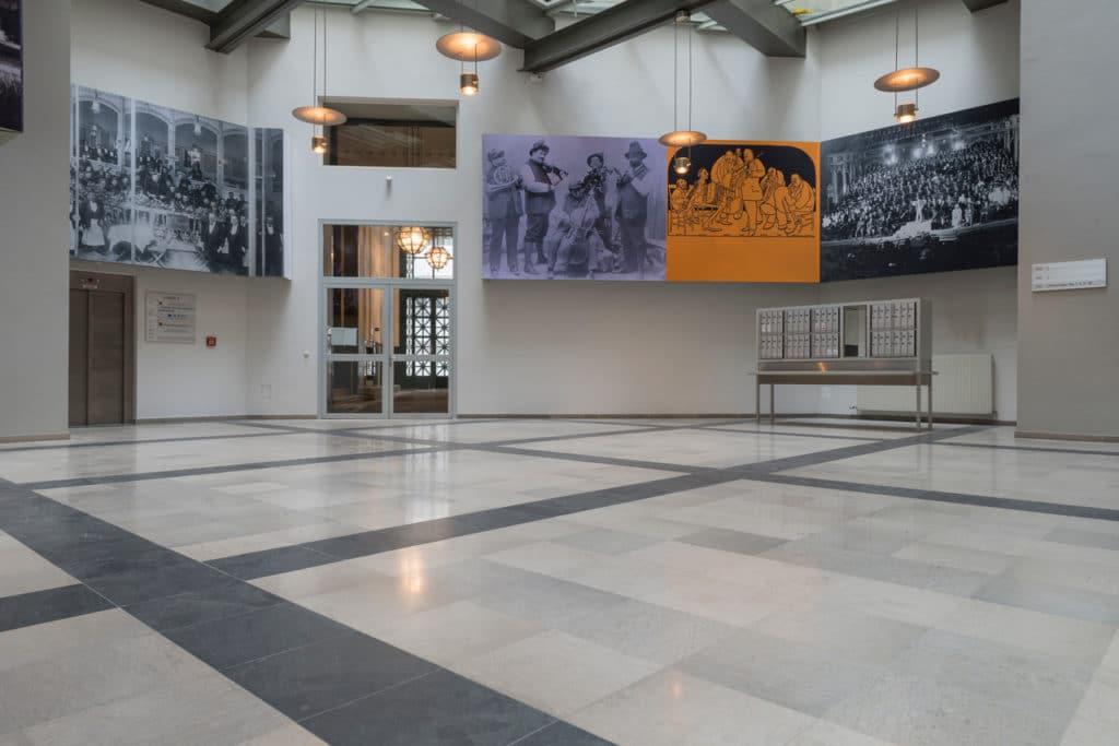 Grauer Kalksteinboden im Palais Fanto Wien – 6