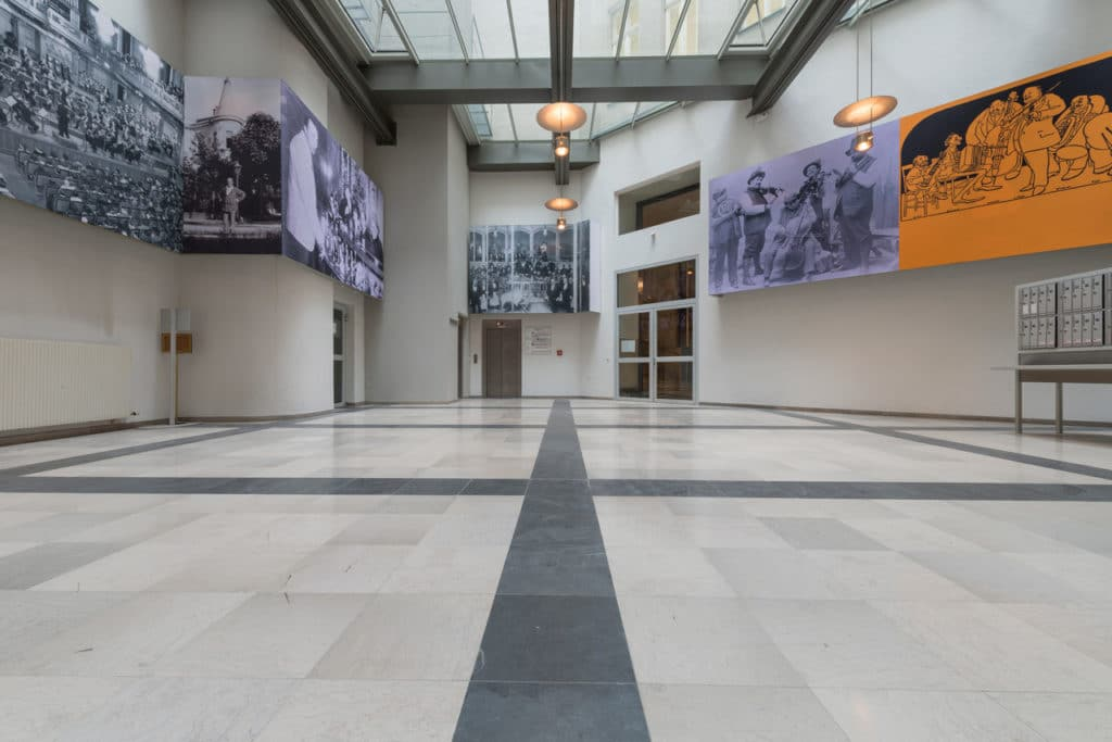 Grauer Kalksteinboden im Palais Fanto Wien – 7