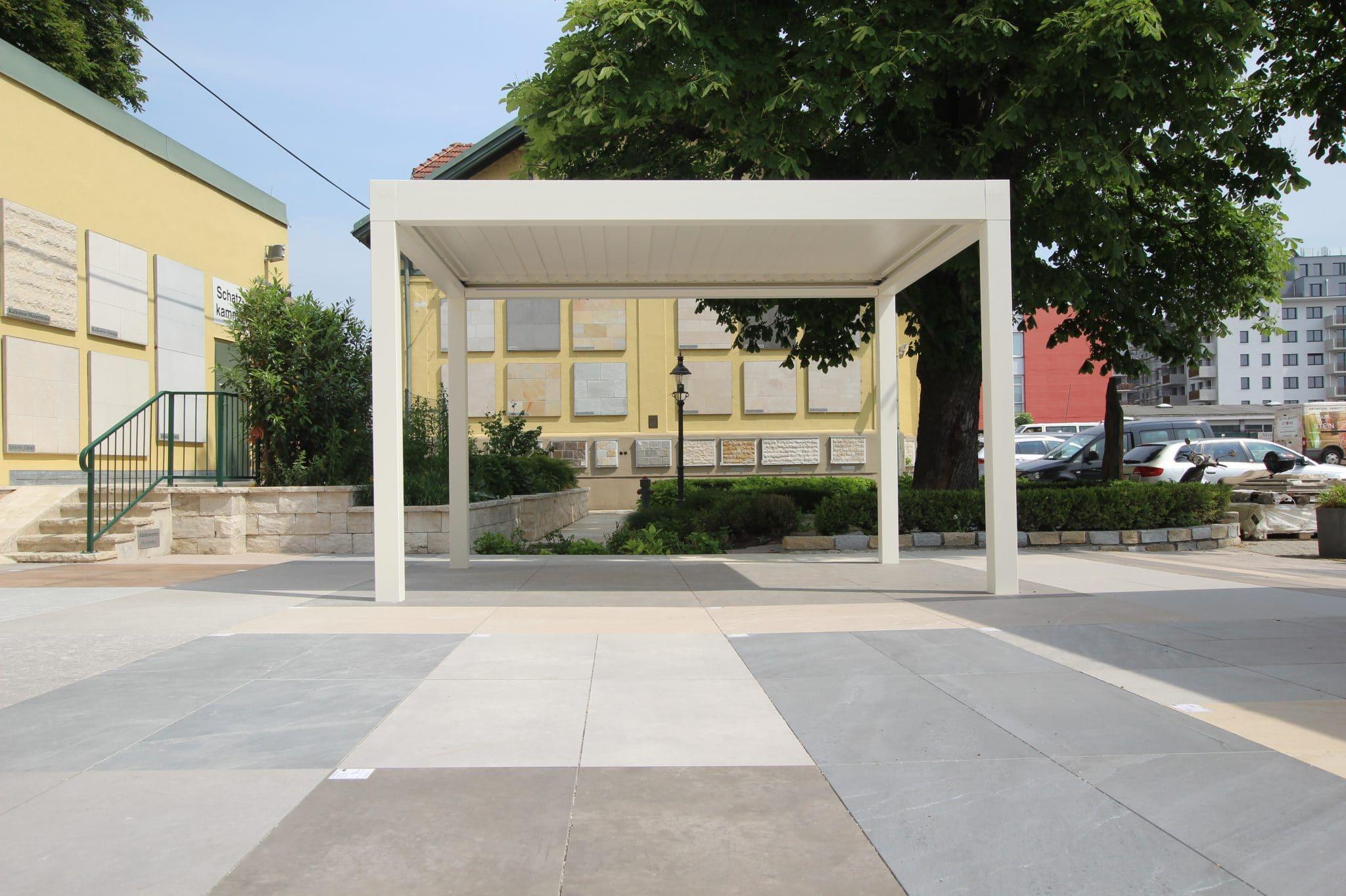 Steinplatten Ausstellung Terrassen im Steinzentrum Wien