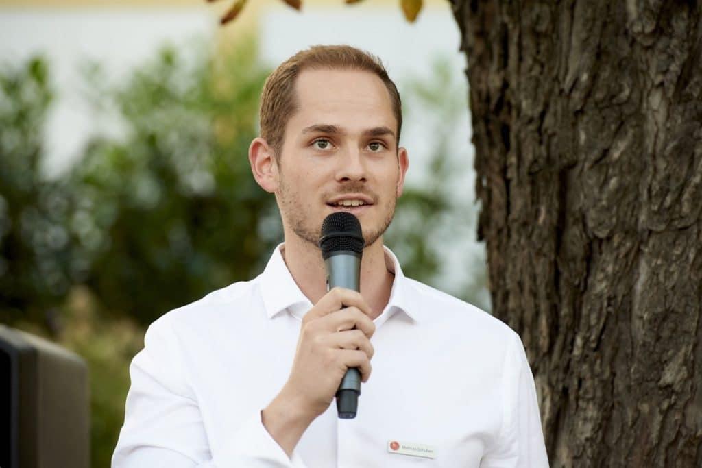 Moderation Mathias Schubert im Steinzentrum Wien