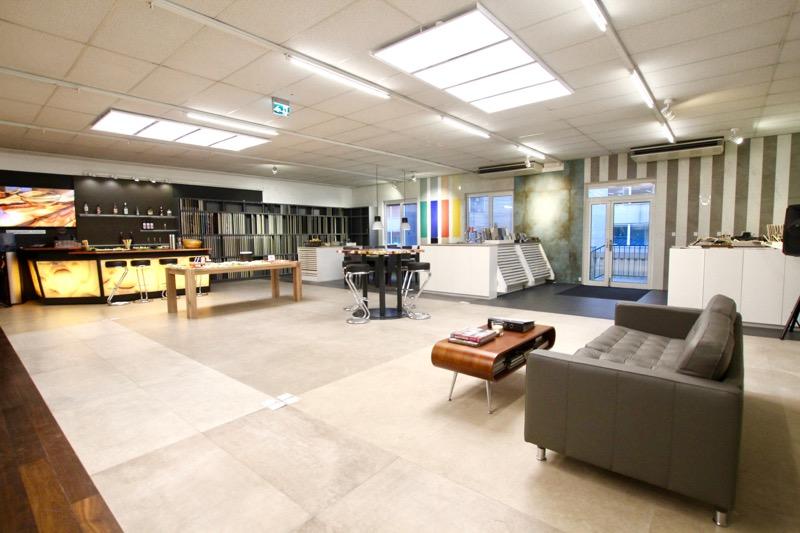 Steinplatten Ausstellung interieur in Wien SCHUBERT STONE