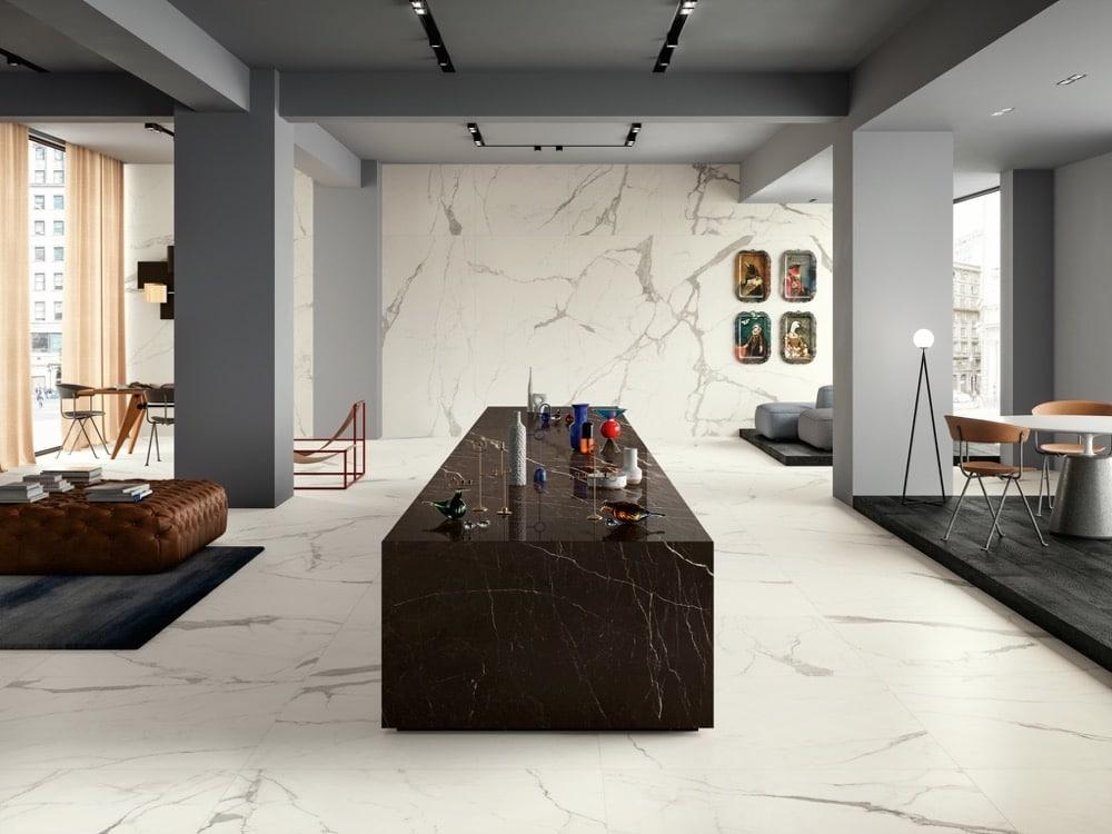 Feinsteinzeug Steinplatten Marmor-Optik