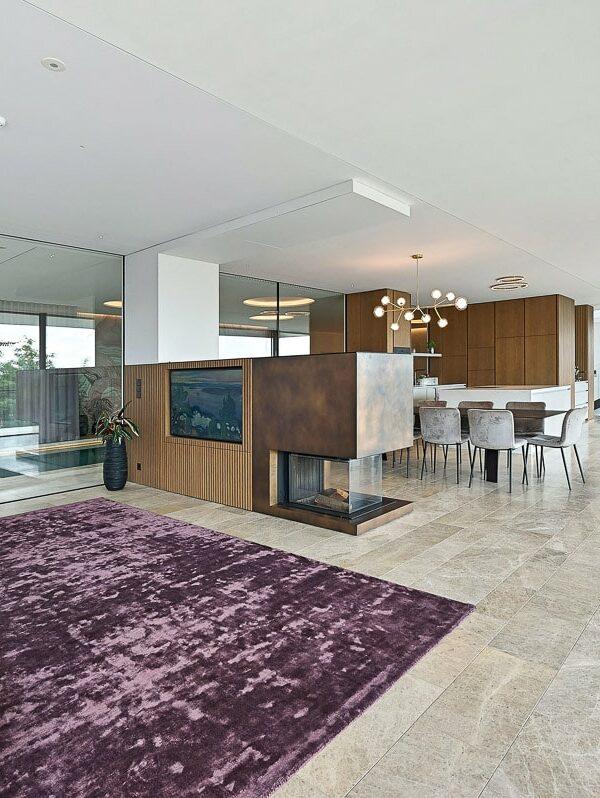 Luxus-Wohnzimmer mit Naturstein in Wien